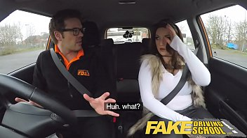 Fake Driving School Instructor gets titty wank from busty british babe 13 min