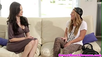 Bigtitted lesbian pussylicked and fingered