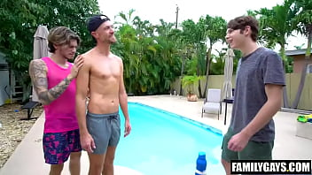 Young twink visits his gay step uncles