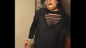 Sexy BBW Mistress Tina Snua Smoking In Stockings 2 min