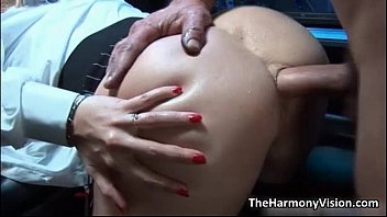 D ass gets fucked - Busty blonde whore gets her ass