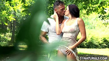 Wet t-shirt and hot summer sex with Felicia Kiss