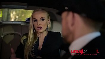 Stretch Limo Hardcore Threesome With Leggy Kayla Green & Angelina Brill GP061