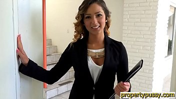 Realtor Teen With A Hairy Pussy Fucked By A Potential Client