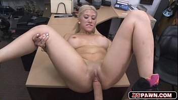 Horny hottie blond babe having a big dick