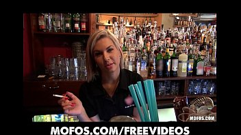 Gorgeous blonde bartender is talked into having sex at work 12 min