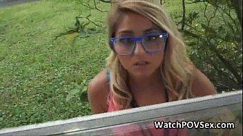 Teen porn vids free - Playful blonde amateur fucked on pov vid