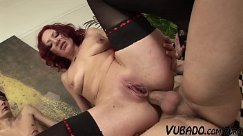Step Mom Gets Her Ass Fucked By Two Young Students