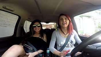 Streaming Video naked inside a car on the street - XLXX.video