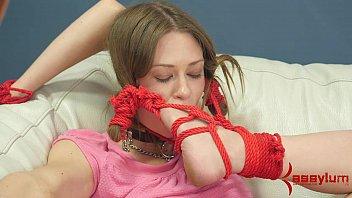 Alexa Nova Gags On Foot And Anal Beads