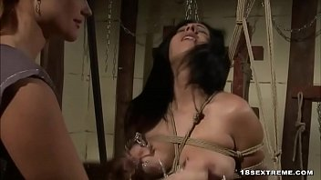 Horny babe with big tits gets fucked by mistress