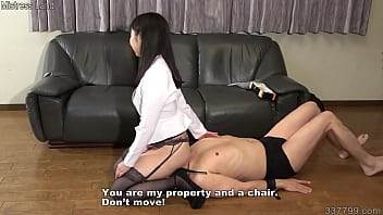 A Masochistic Man Signs A Slave Contract With A Japanese Mistress And Gets A Facesitting