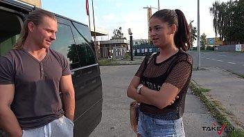 Hungarian slut take a ride with naughty stranger to get cum on ass hole Vorschaubild