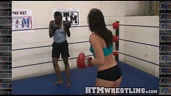 Fight nipples sex thong - Boxing sinn sage combat fetish - big booty white girl boxer
