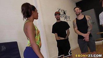 Ebony Zoey Reyes Gets Gangbanged In Her Dance Studio