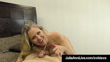 Titty Fucking Milf Julia Ann Mouth, Booby & Hand Fucks Dick!