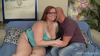 Sexy BBW Julie Ann More gets fucked like a dog and eats cum