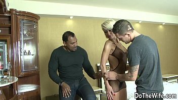 MILF Wife takes black cock in all holes 8 min