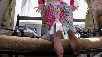 Sexiest Spandex, Cheerful Leggings Off, Dirty Feet, Sexiest Ass Strip Show