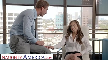 Naughty America - Spencer Bradley is a very naughty employee bending over with no panties at work!!!