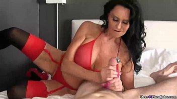 ov40-Brunette pornstar pov handjob 6 min