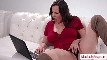 Horny stepmom tastes her pornstar stepdaughter