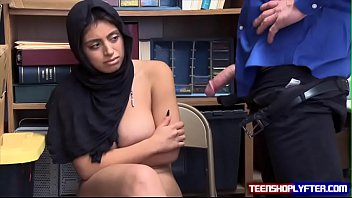 Big Titty Muslim Thief Get A Big Dick For Stealing