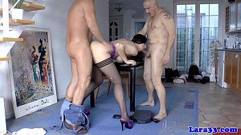 Mature british double penetrated hard