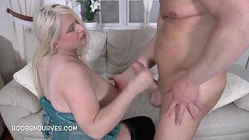 British Busty Blonde Fucks A Big White Cock - hubxxxporn.com