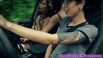 Teen girlnextdoor roughly drilled by ranger thumbnail