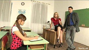 Schoolgirl Intense Sex Lessons