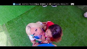 BaDoink VR Celebrating Winning Goal In FFFFM Group ORGY