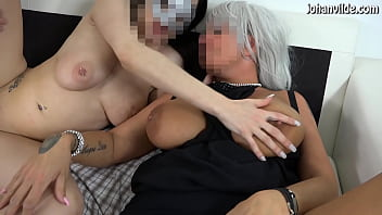Milf with big natural boobs fisted by y. girl!