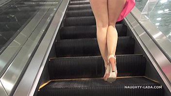 Public flash naughty list voyeur - No panties shopping public flashing upskirt