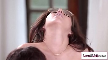 Lesbian lic - Two big boobs lezzies enjoyed munching each others pussies