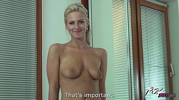 Povbitch Blonde super sexbomb first time fuck on camera and is awesome