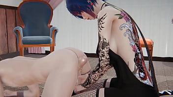 Azalea tattooed girl hard core fucking