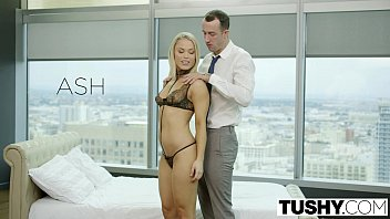 TUSHY Blonde Escort Ash Hollywood Gives up her Ass for the first time