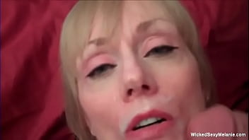 Cum On Her Face Makes Grandma Smile