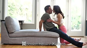 PASSION-HD Busty wide eyed brunette POUNDED 10 min