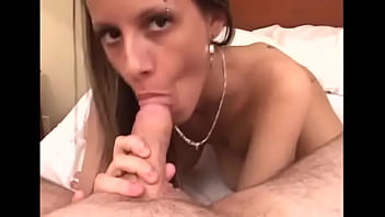 Meat visits mouth and exquisite brunette Pamela with massive natural tits 's snatch