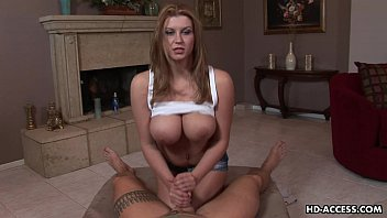 Chick with big tits enjoys playing with a hard cock