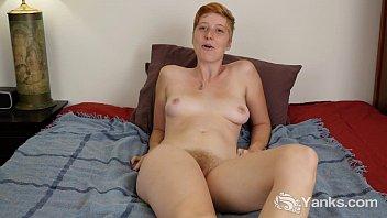 Redhead Aurora Masturbating Her Hairy Twat