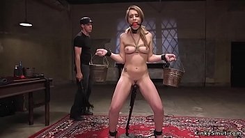 Slave gets training with vibrator