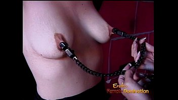 Female nipple fetish Kinky brunette slag gets tied up and has her boobies pleasured