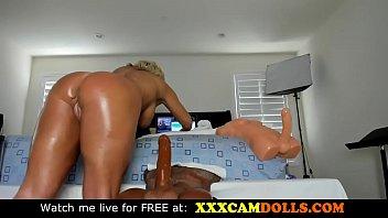Hot milf with big cock doll on webcam صورة