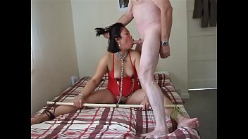 Pinay Hogtied chained milf