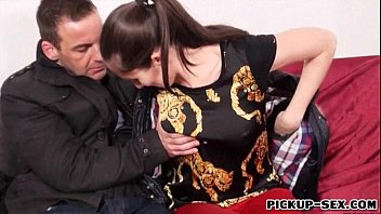 Czech girl Aruna Aghora picked up and nailed for money