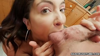 Jane Wilde's stepdad has certain house rules that she must obey such as doing the dishes. But washing her dads dirty cock with her mouth will do!