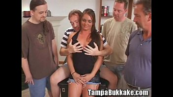 Cum Swallowing Slut Bukkake Party